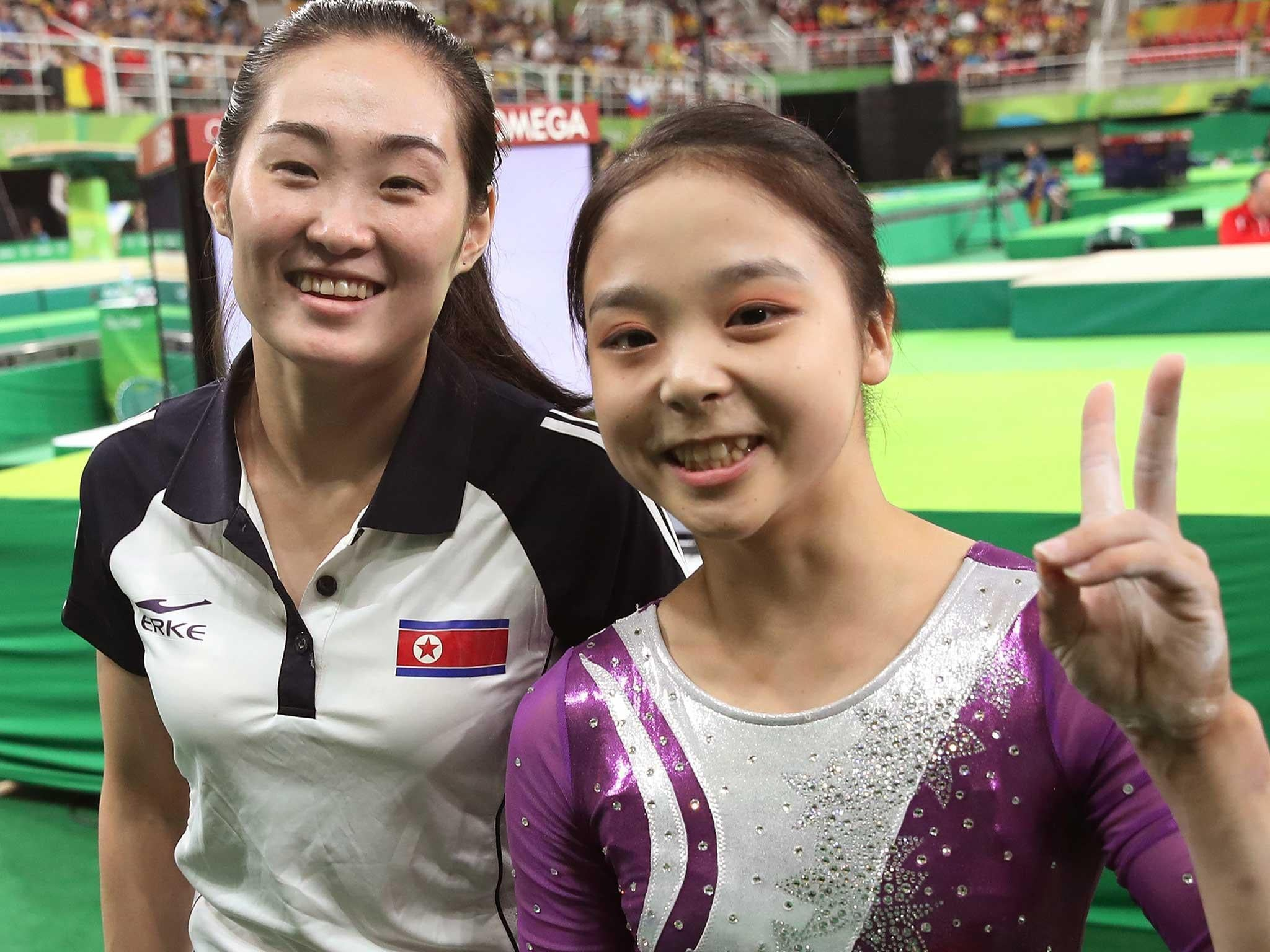 Touching glimpse of unity as North and South Korean gymnasts share smiles