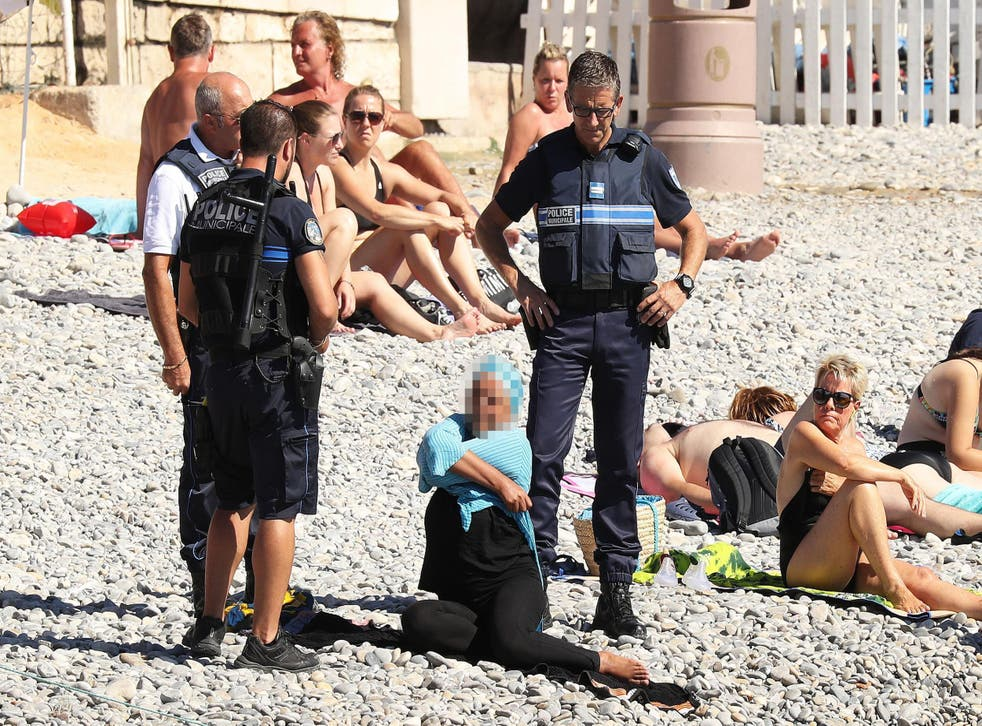 Police on the beach in Nice