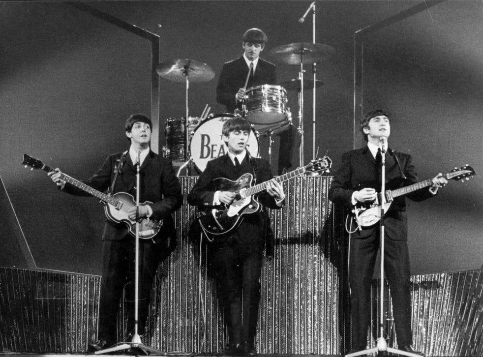 The Beatles on stage at the London Palladium in January 1964