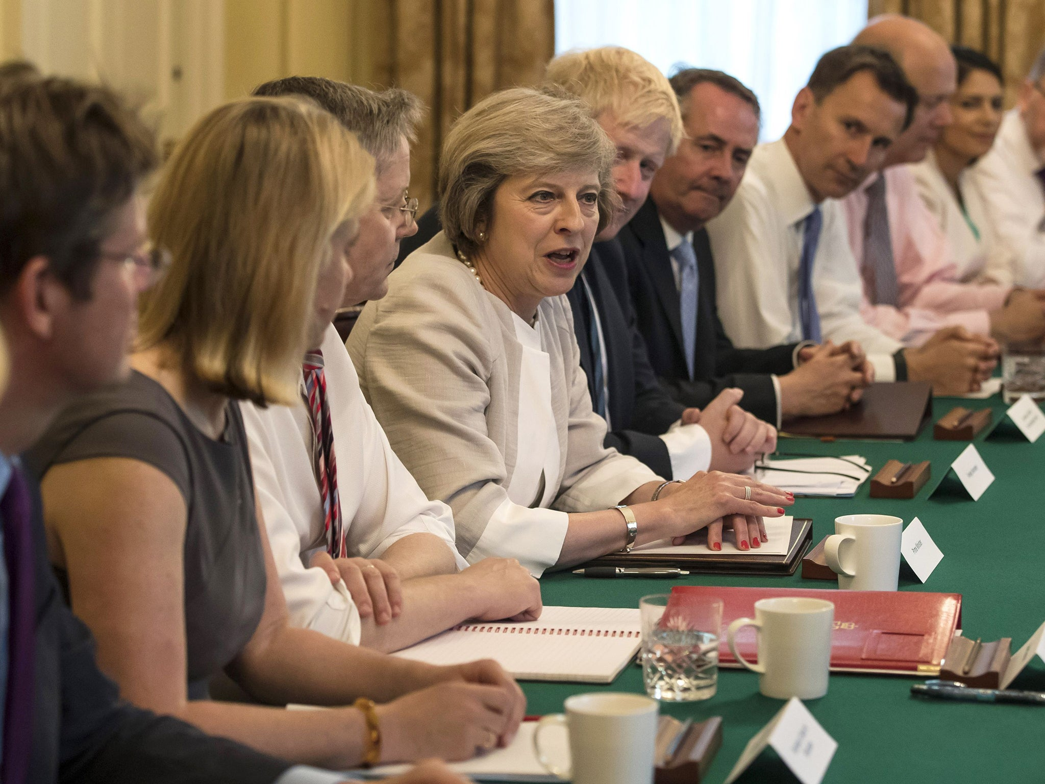 Image result for theresa may cabinet in disarray
