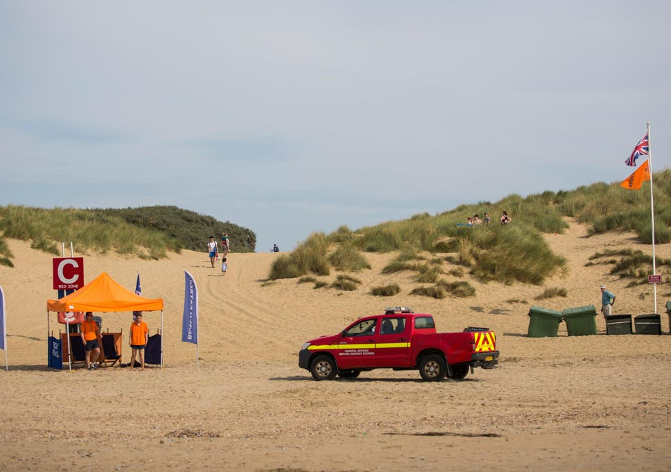 588a0dfc3cbc Camber Sands  Missing swimmer in East Sussex found  safe and well ...