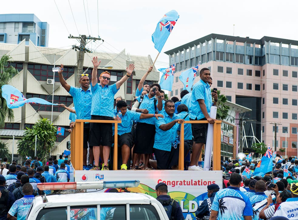 Ben Ryan and the Fiji national team were received as national heroes on return from Rio