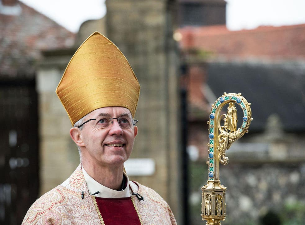 Welby previously condemned the Republican's plans to ban Muslims from the US as 'not a christian thing to do'