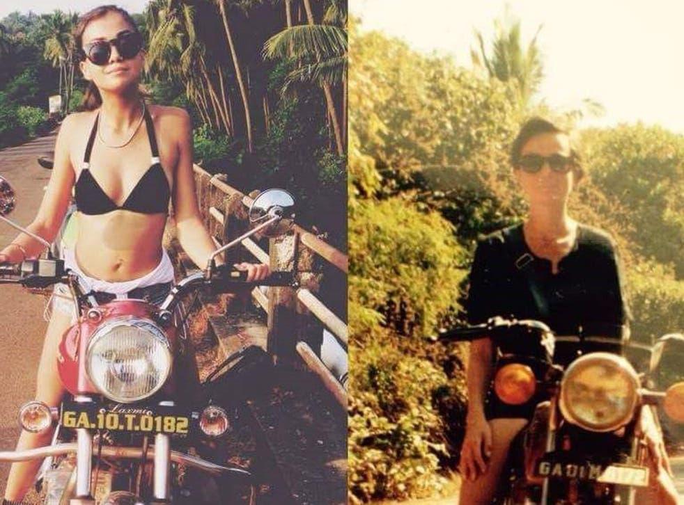 Mia, left, and Rosie in Goa