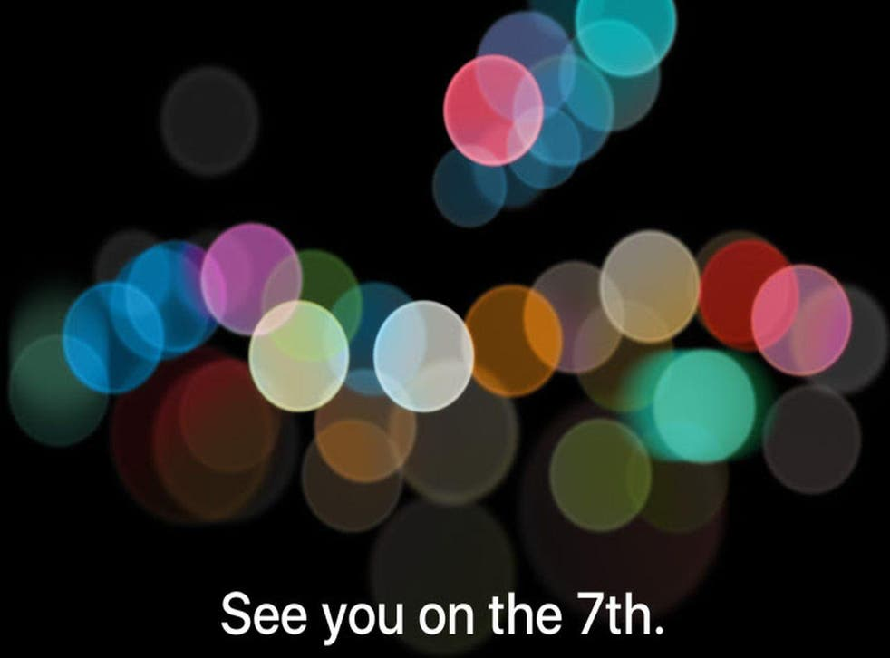 Apple's invite to its 2016 event