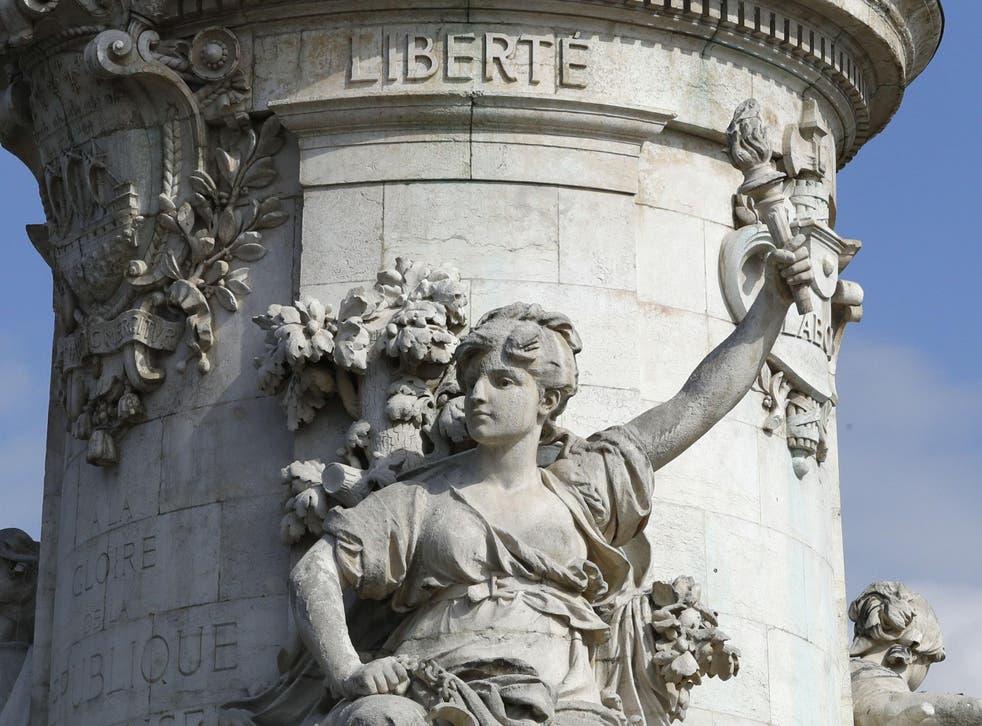 The Marianne monument at Place de la Republique in Paris