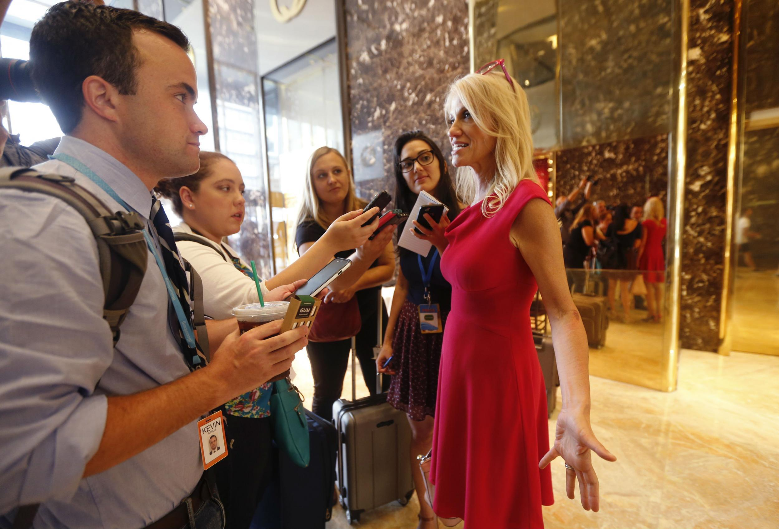 Donald Trump s campaign manager Kellyanne Conway said rape would
