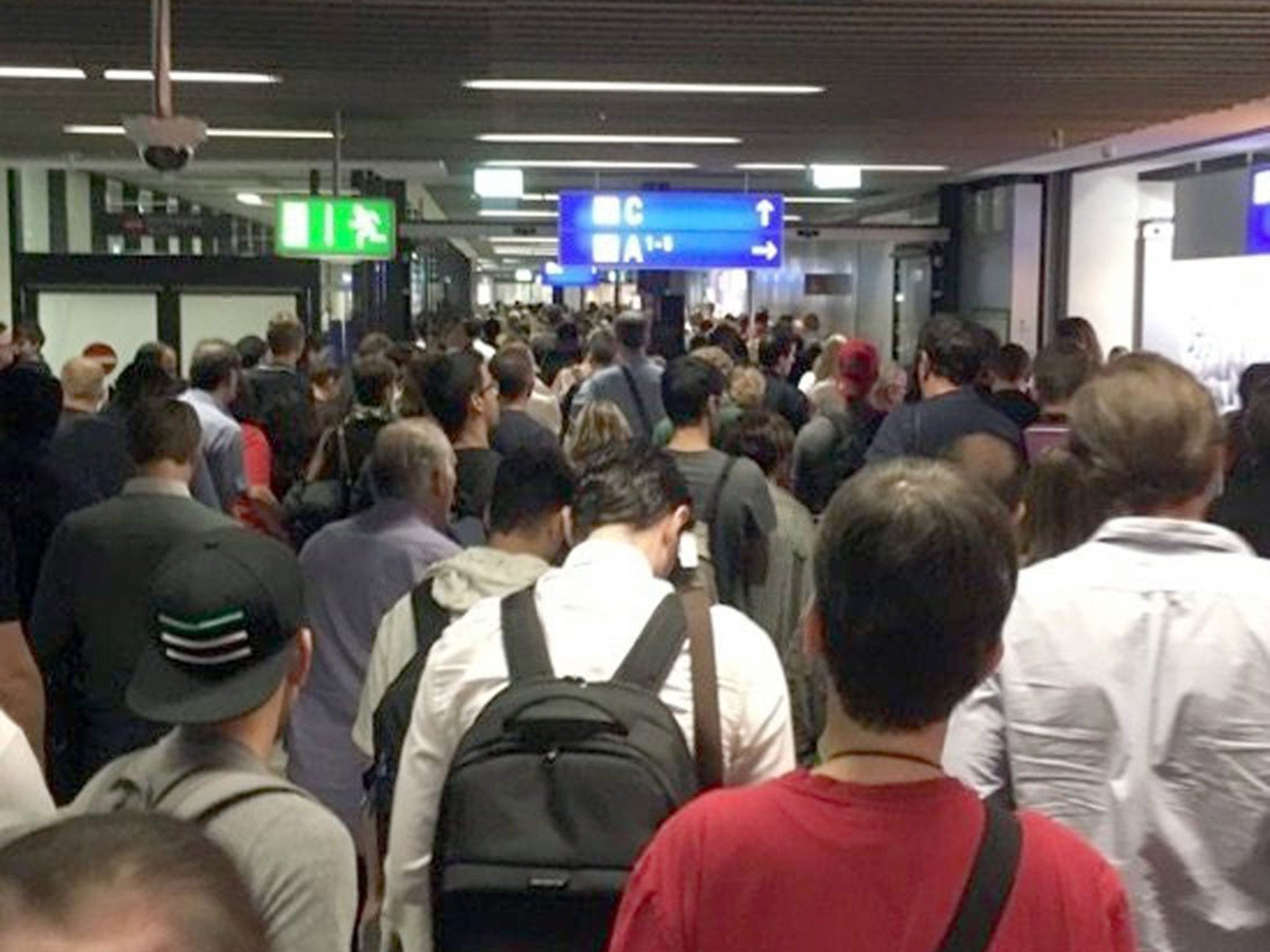 Uk Basketball: Frankfurt Airport Evacuated: Departures Hall Shut After
