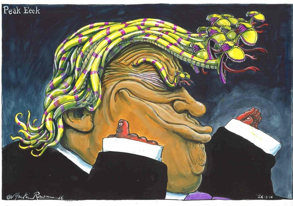Image of: Showtime Martin Rowson For The Guardian Business Insider Trumped Donald Trump Cartoon Exhibition Celebrates Caricatures Of