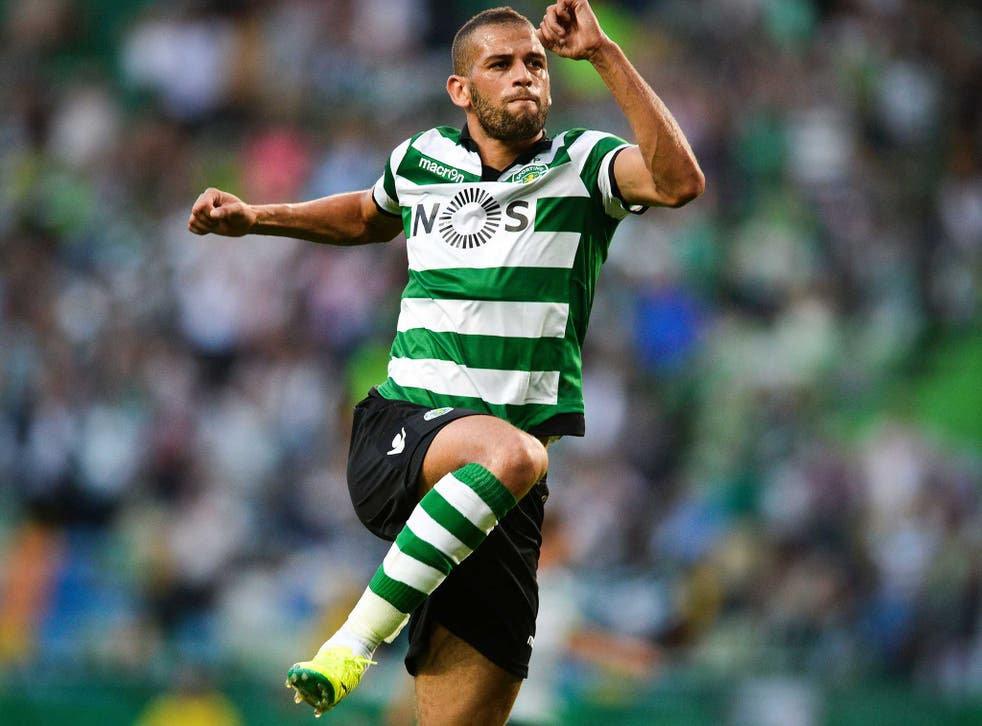 Islam Slimani is a club-record signing for Leicester City