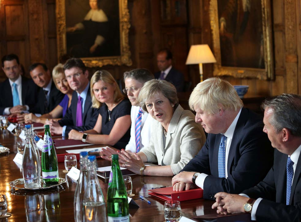 Theresa May addresses a Cabinet meeting at the Prime Minister's country retreat Chequers to discuss Brexit