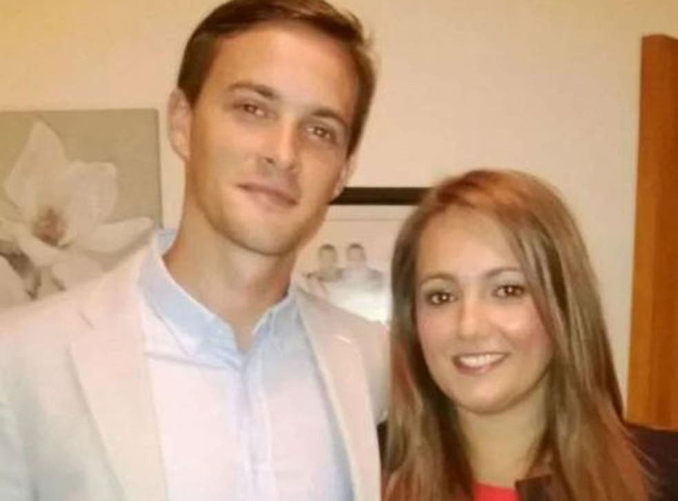 Oliver Dearlove with his girlfriend, Claire