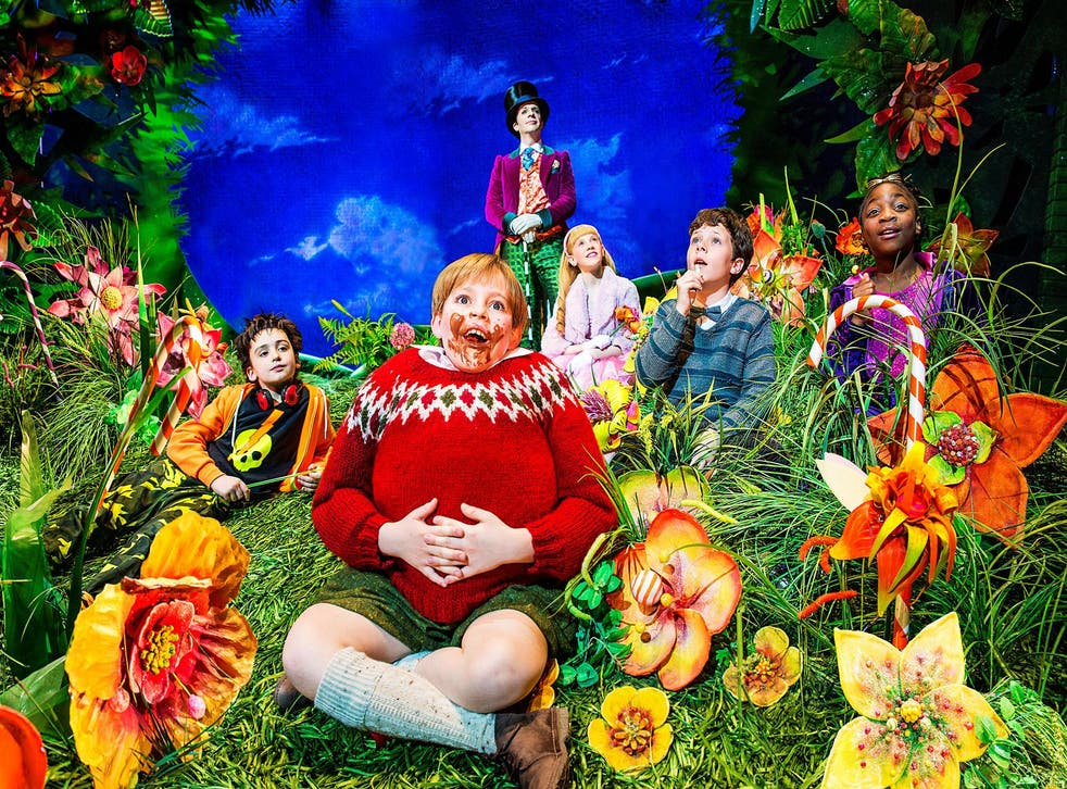 Augustus Gloop in the Charlie and the Chocolate Factory musical