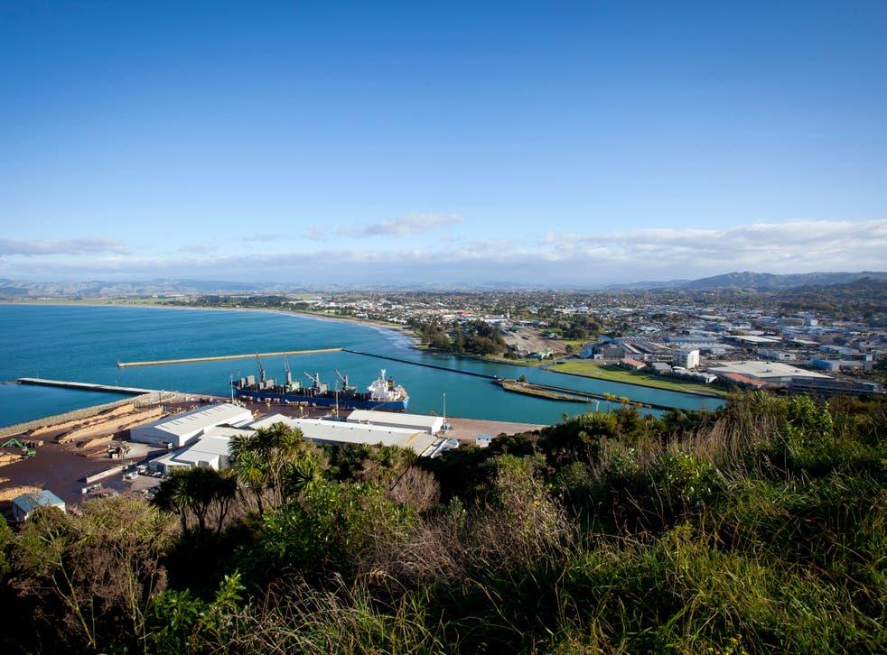 Gisborne City in north east New Zealand