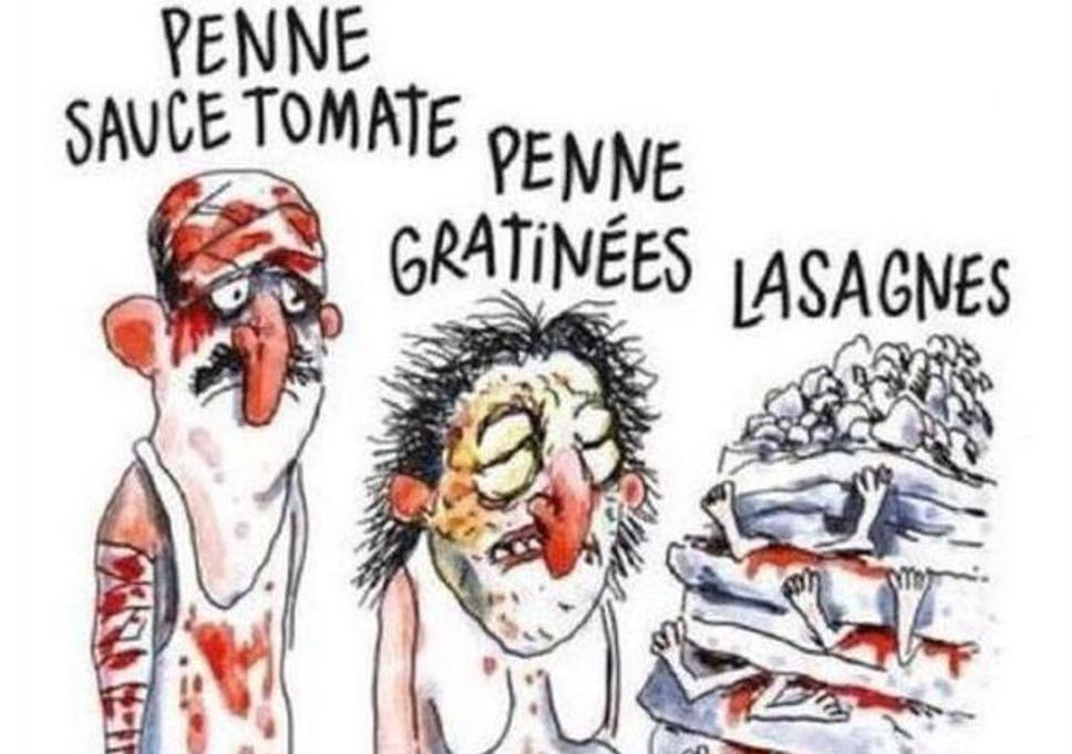 Charlie Hebdo Causes Outrage With Italy Earthquake Cartoon Depicting