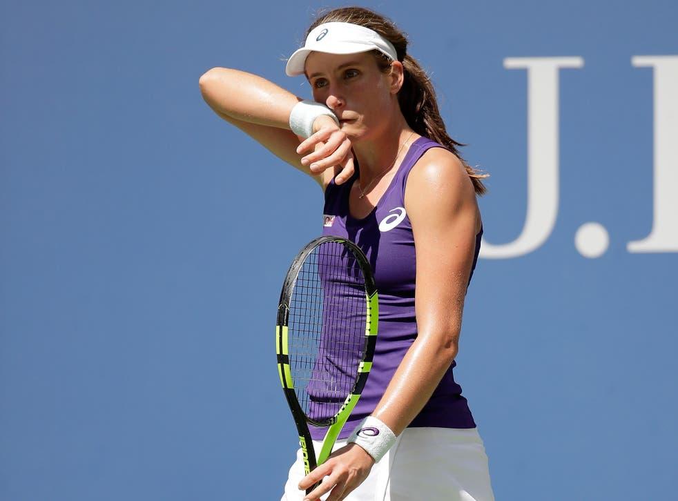 Johanna Konta made too many errors in her fourth round defeat by Sevastova