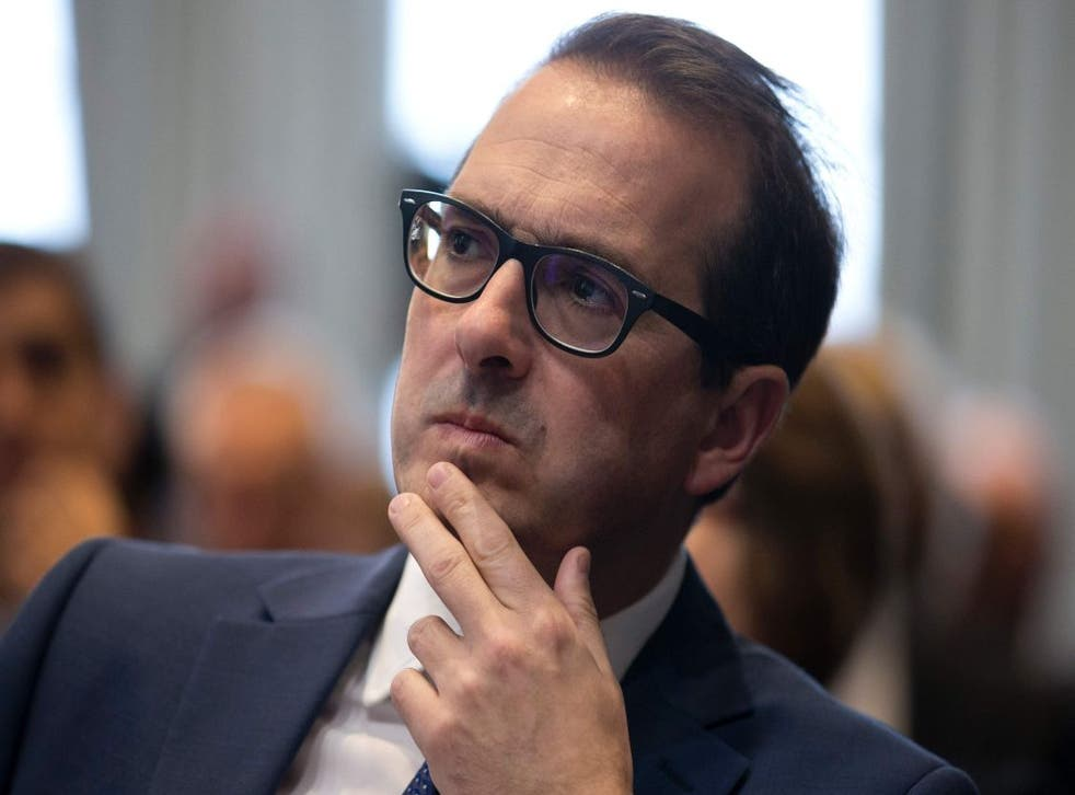 Owen Smith sits in the audience before delivering a speech at a press conference in London on September 5, 2016