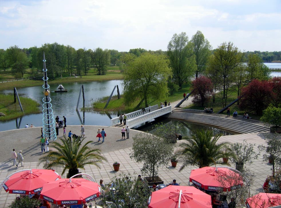 """The Britzer Garten, which has gardens with themes including """"geological"""", and its own labyrinth"""