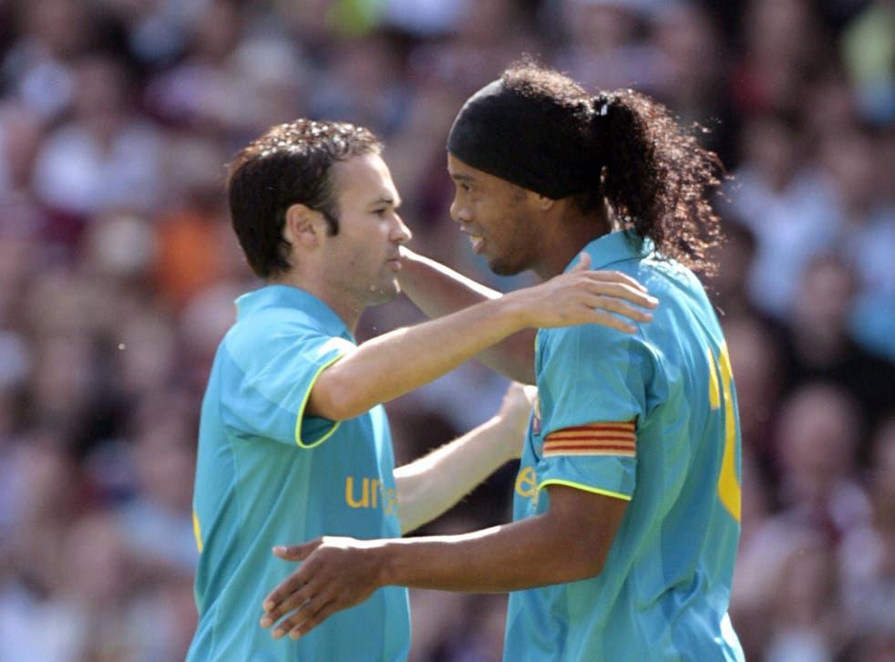 Andres Iniesta revealed how Ronaldinho inspired Barcelona to an El Clasico win