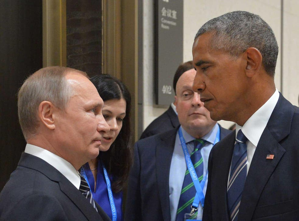 Russian President Vladimir Putin and President Barack Obama