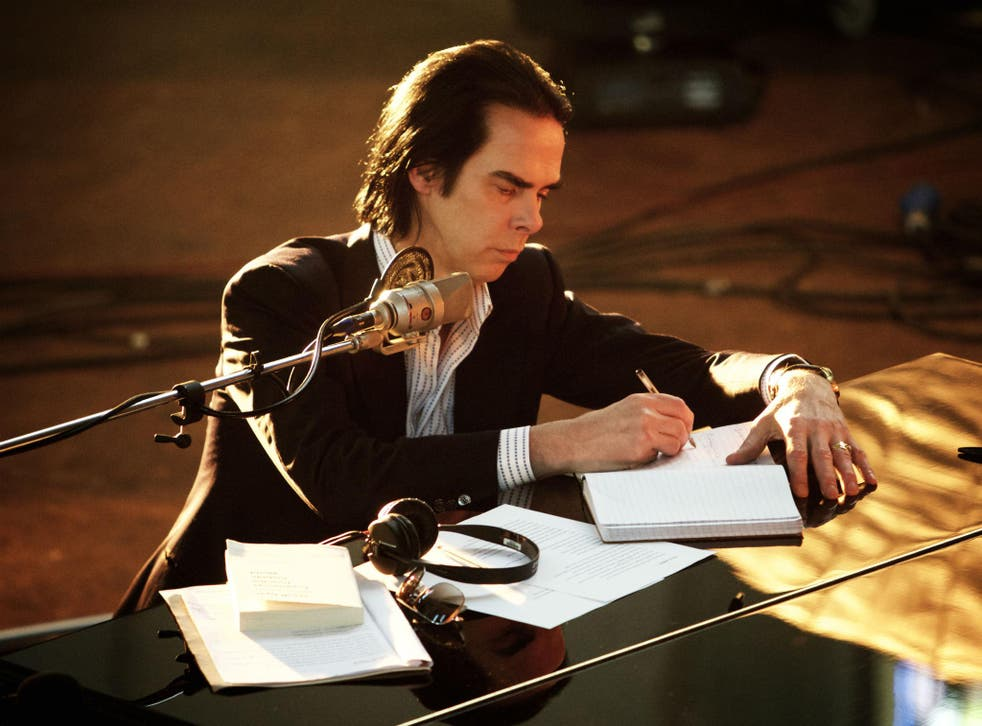 Nick Cave in his film One More Time with Feeling