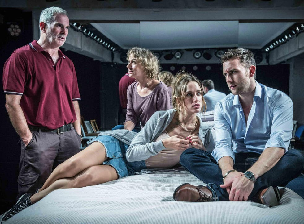 A scene from Unfaithful at Found 111, starring Sean Campion, Niamh Cusack, Ruta Gedmintas and Matthew Lewis