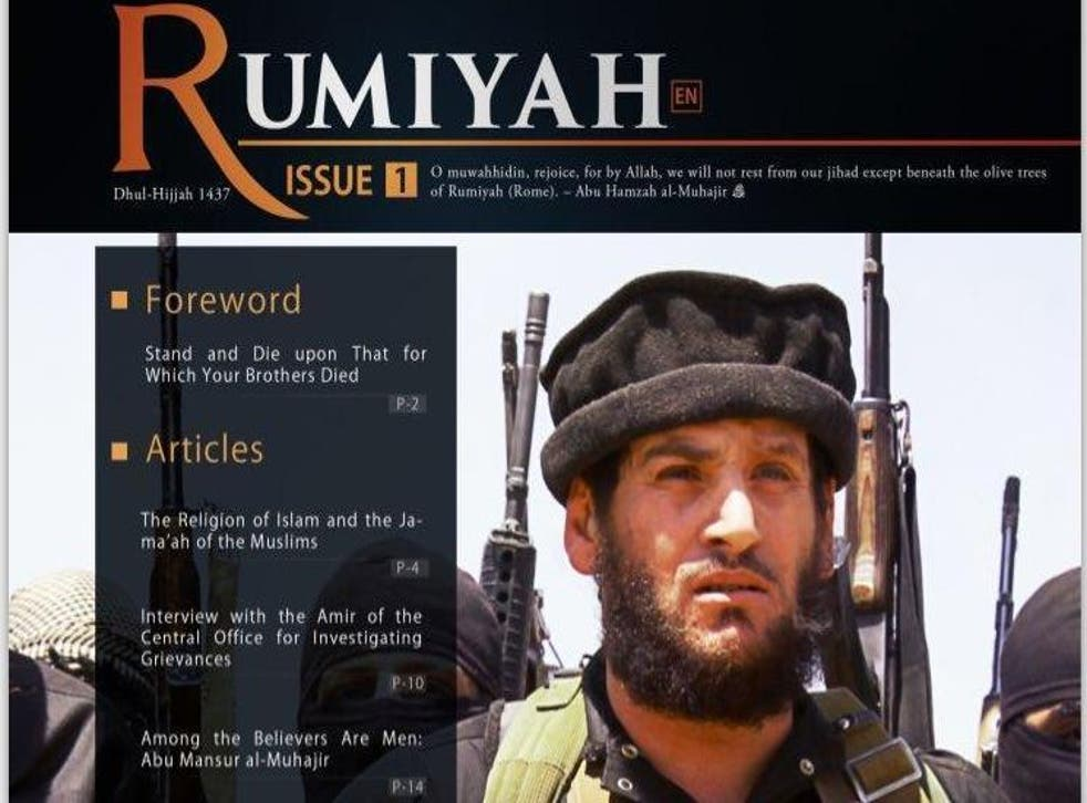 Rumiyah is Arabic for Rome, a reference to the fall of the Roman Empire