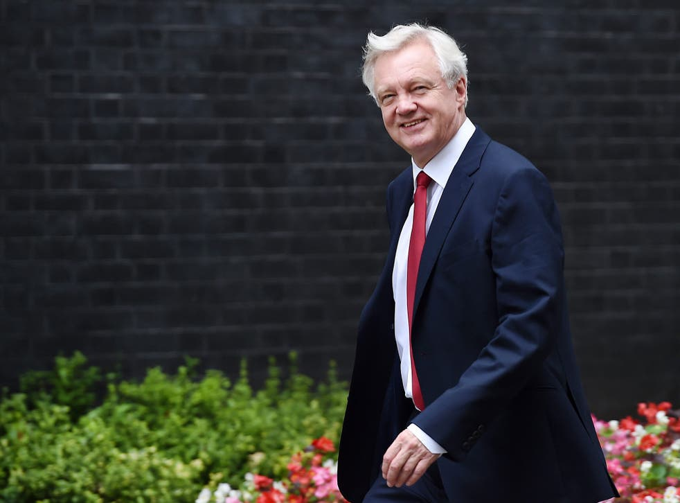 Brexit Secretary David Davis will tell the Tory Party faithful the change will mean 'power and authority' returned to the UK