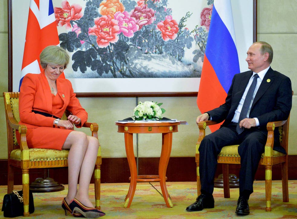Theresa May and Vladimir Putin met at the G20 summit in China and could be part of a closer union post-Brexit