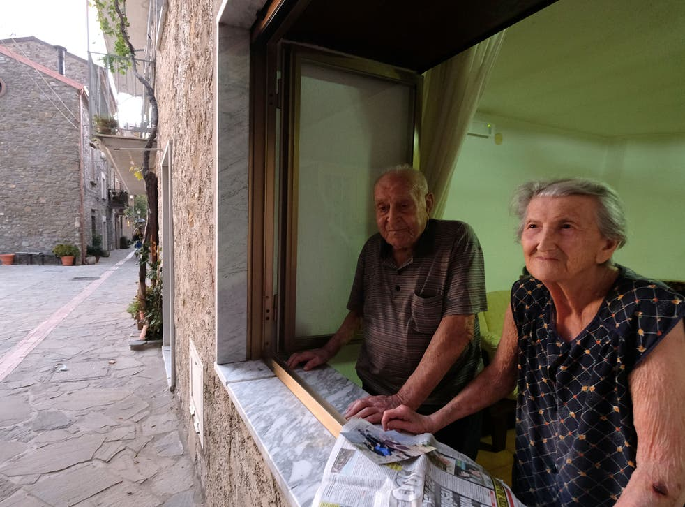 Antonio Vassallo, 100, and his wife Amina, 93, are typical of the long-lived residents of Acciaroli