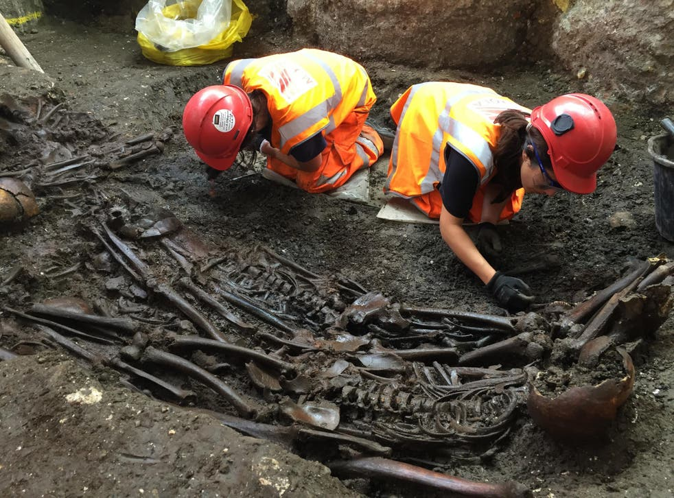 The skeletons were discovered during an excavation of Bedlam burial ground in July 2015