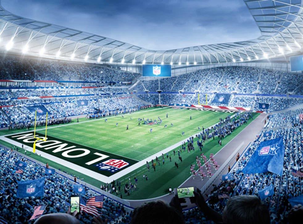 How the new Tottenham stadium will look hosting NFL fixtures