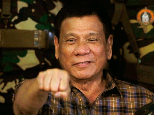 Mr Duterte was elected earlier this year on the promise of preventing the Philippines from becoming a 'narco-state'