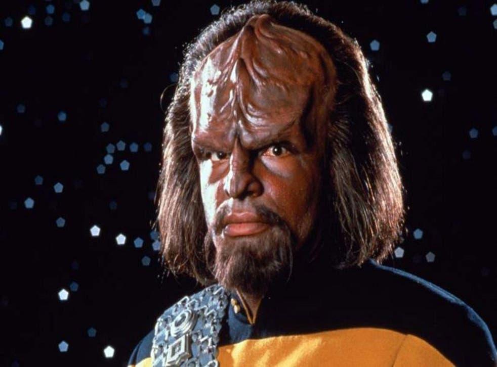 Michael Dorn as the 'Star Trek' Klingon, Worf