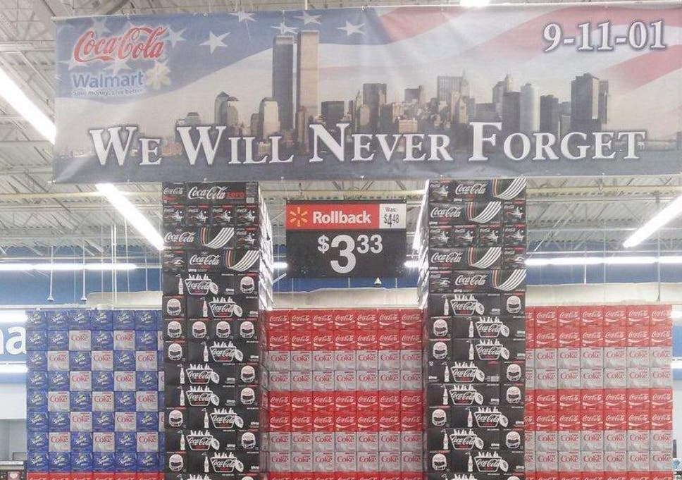 Walmart removes 9/11 Coca-Cola display in shape of Twin Towers after