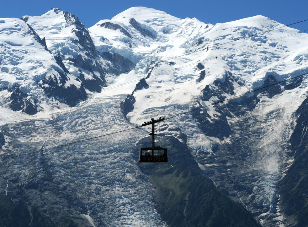 Conditions on Mont Blanc can be treacherous