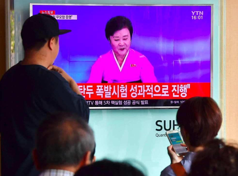 A North Korean nuclear test broadcast on state TV