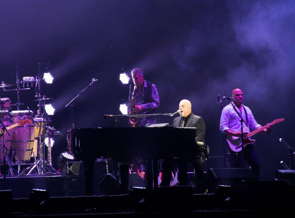 Billy Joel in concert at Wembley Stadium