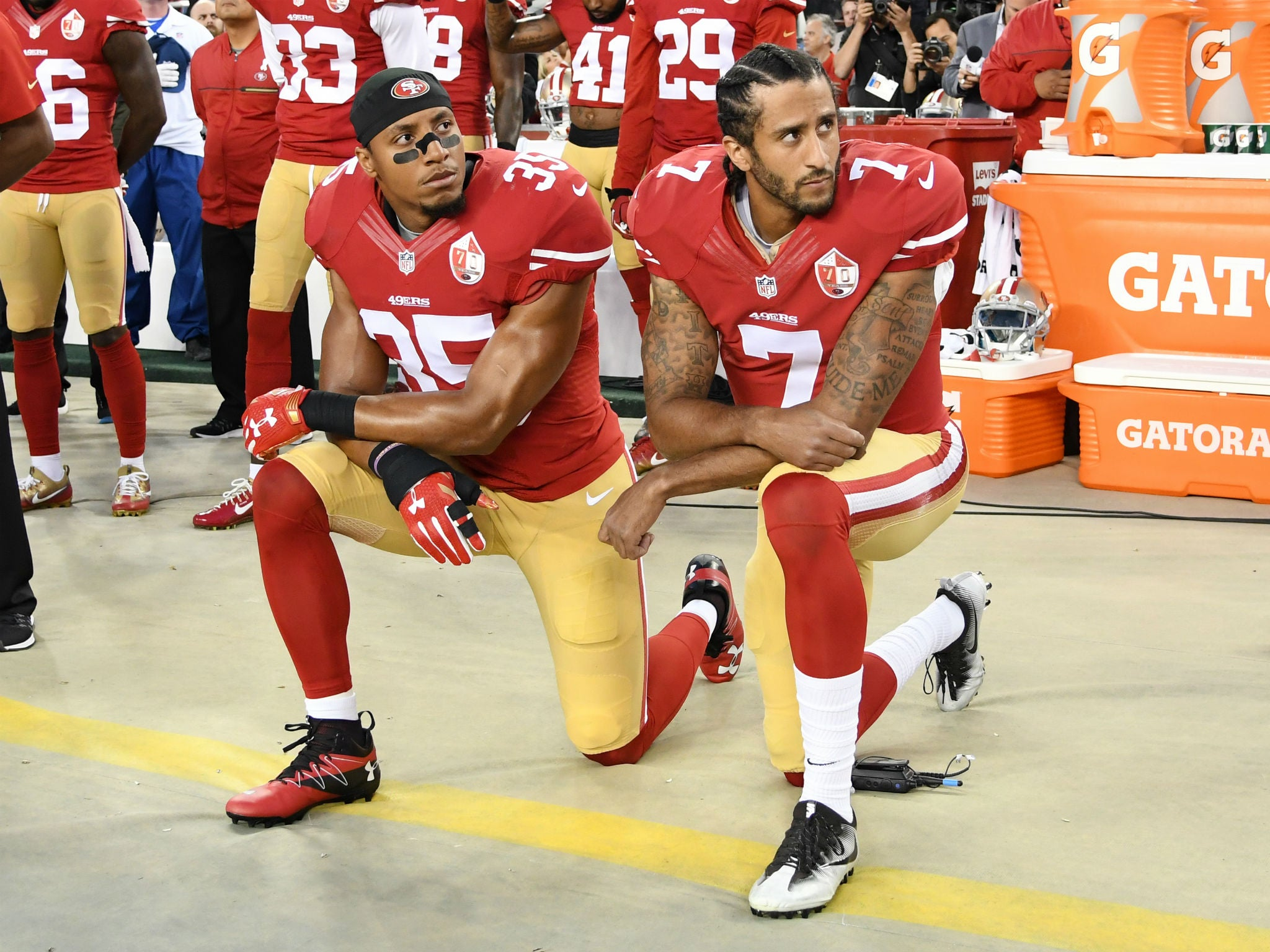6cd554d0884cf Donald Trump says NFL should fire  any son of a b      that protests the  national anthem