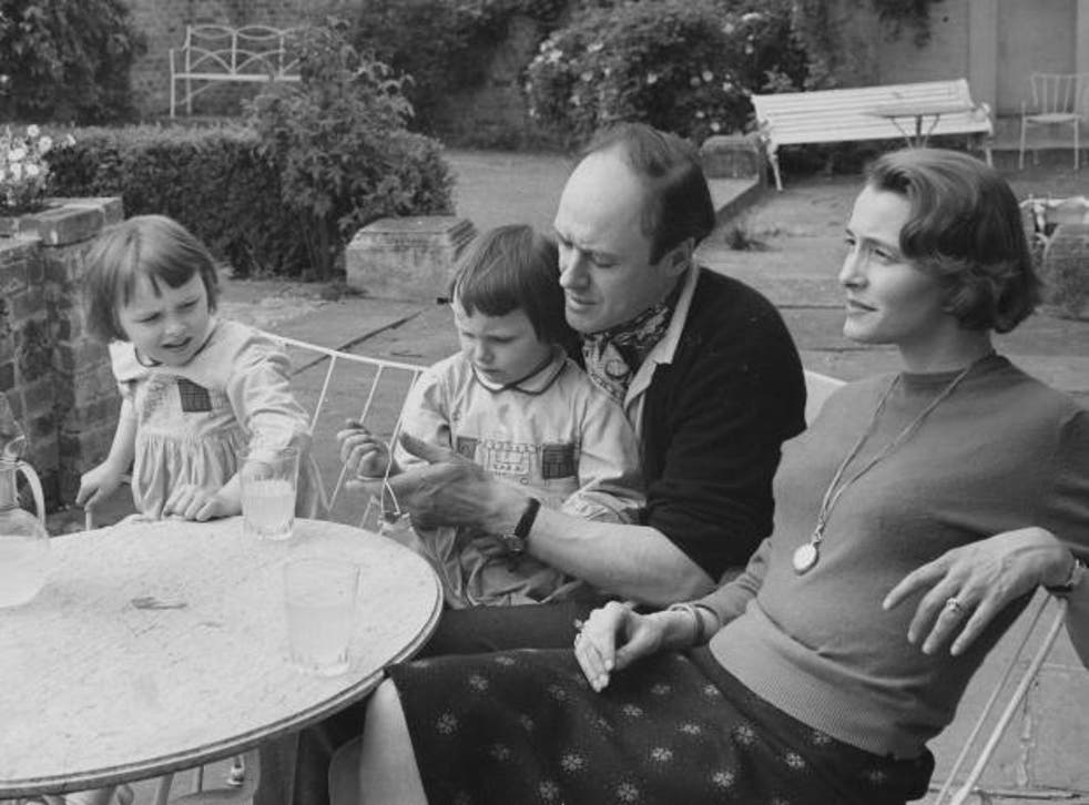 Roald Dahl at home in Great Missenden, Bucks, with his wife Patricia Neal, and their daughters Olivia and Chantal in 1962. Later this year, Olivia died of measles