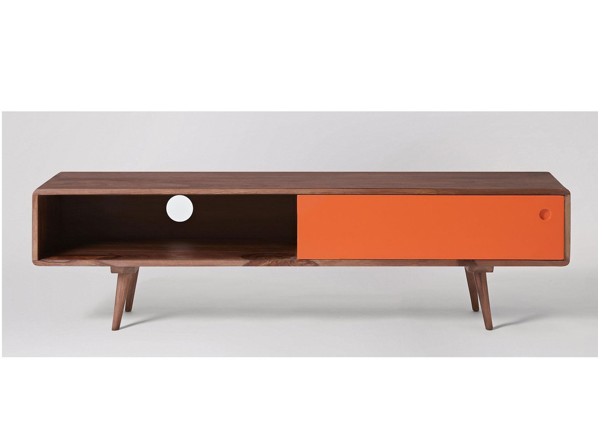 Harking Back To The Sideboards Heyday This Mid Century Style Unit From Swoon Editions Has A Retro Feel It Rosewood Frame With Engineered Panel