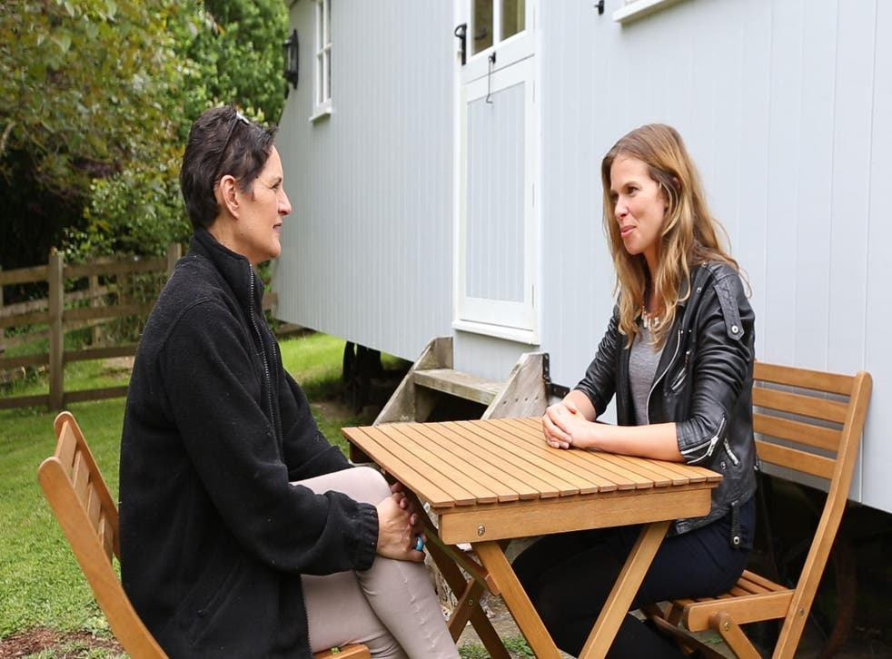 Nickey (left) talks Kate through the process of running a B&B