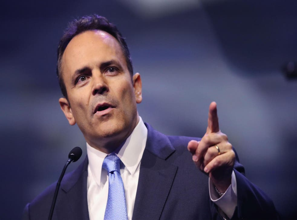 Bevin was speaking at the Values Voter Summit in Washington DC, to an audience of social conservatives