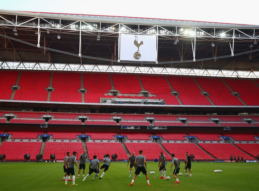 Tottenham will be playing in front of a sold out Wembley audience