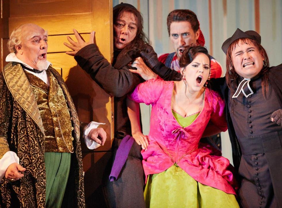 A scene from Il Barbiere di Siviglia at Royal Opera House