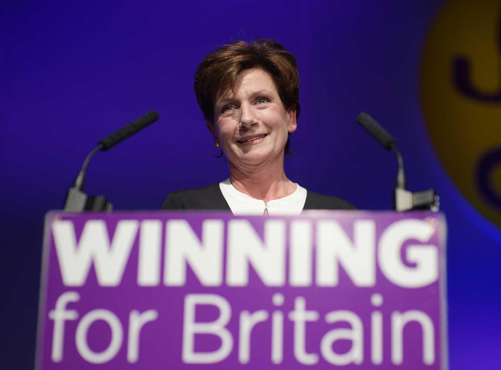 Diane James used the term in her speech