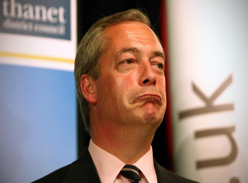 Mulling the hat trick? Nigel Farage has returned twice after resigning as Ukip leader