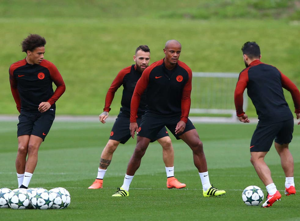 Vincent Kompany is back in training with Manchester City