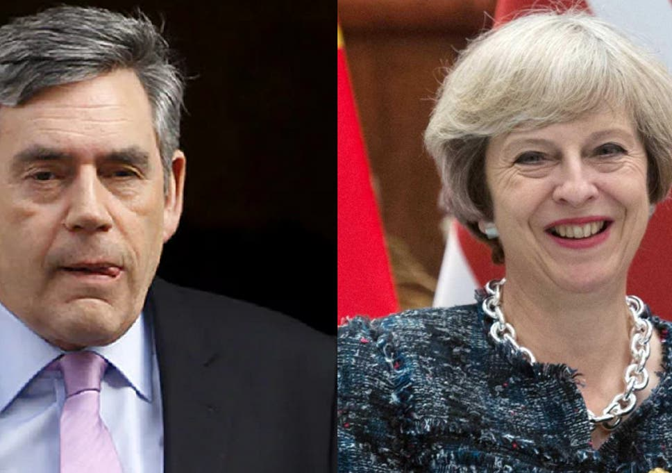 Image result for gordon brown theresa may