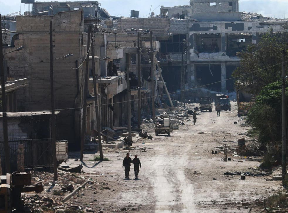 The air strike occurred outside of Aleppo